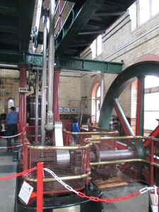 The steam driven beam engine